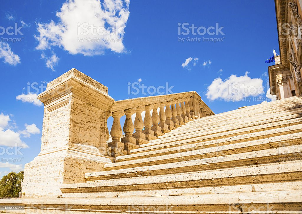 Roman steps stock photo