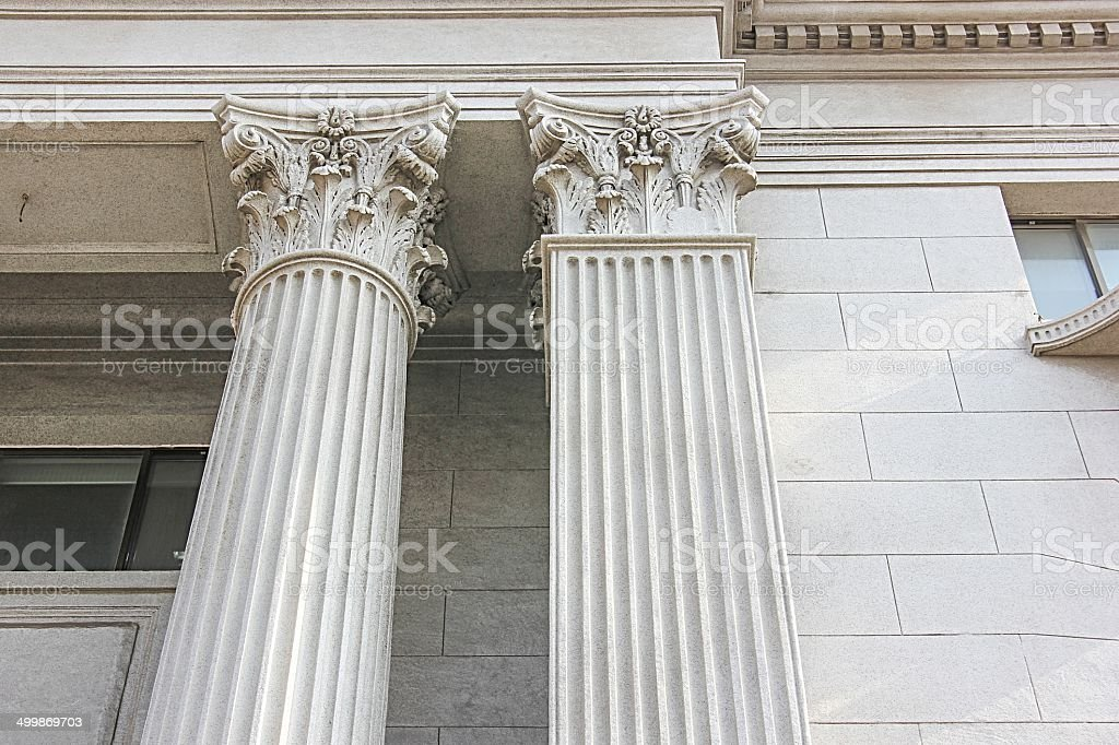 Roman Style Columns royalty-free stock photo