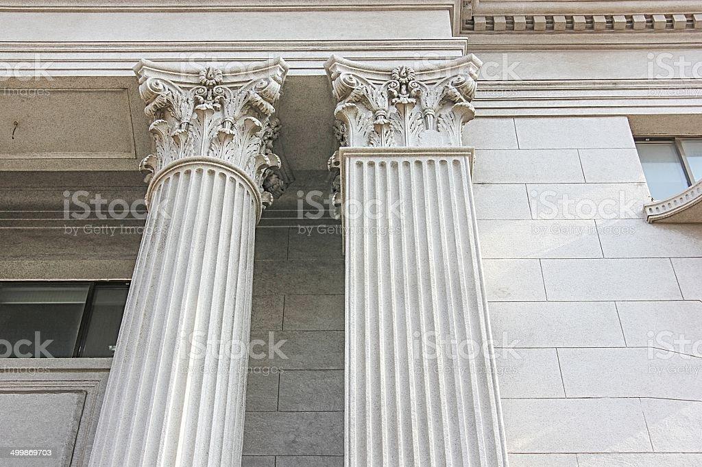 Roman Style Columns stock photo
