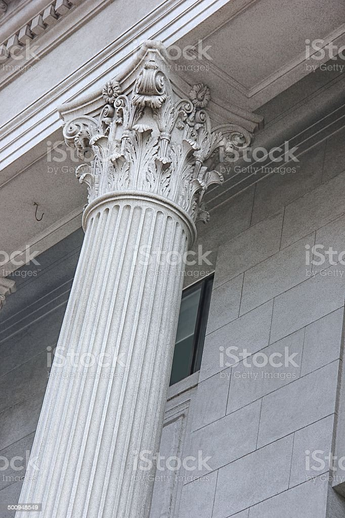 Roman Style Columns royalty-free stock photo