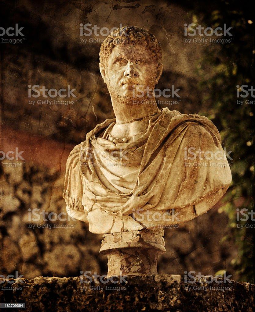 roman style garden bust royalty-free stock photo