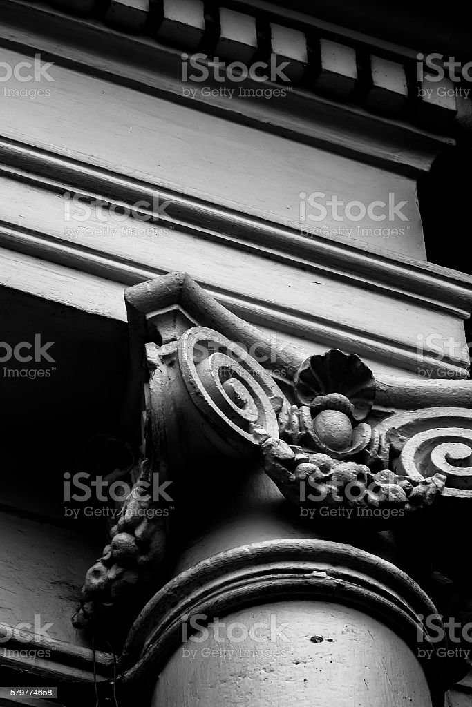 Roman Style Pole Classical order stock photo