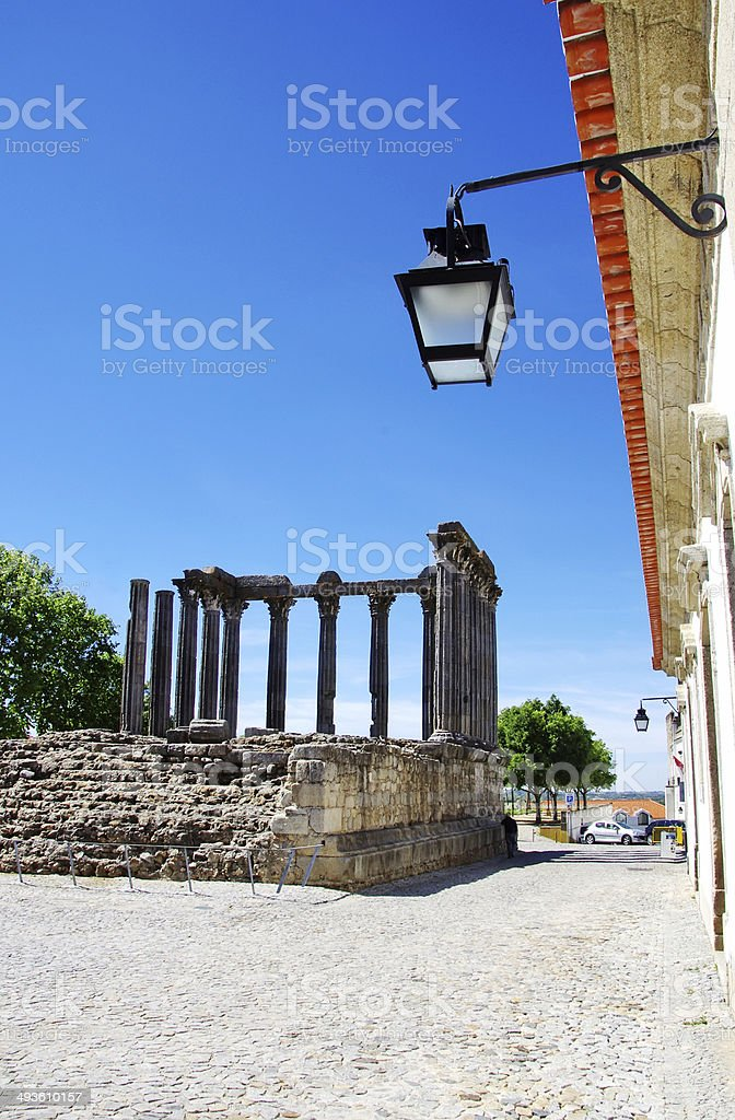 Roman Temple, Evora, Portugal royalty-free stock photo