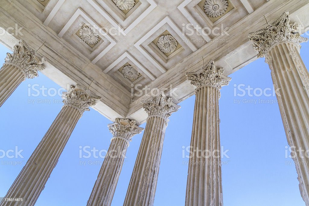 Roman Temple in Nimes, Provence, France royalty-free stock photo