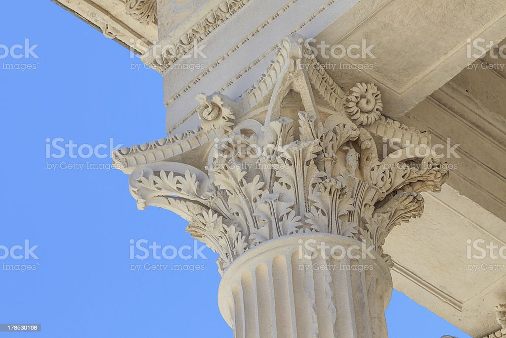 Roman Temple in Nimes, Provence, France stock photo