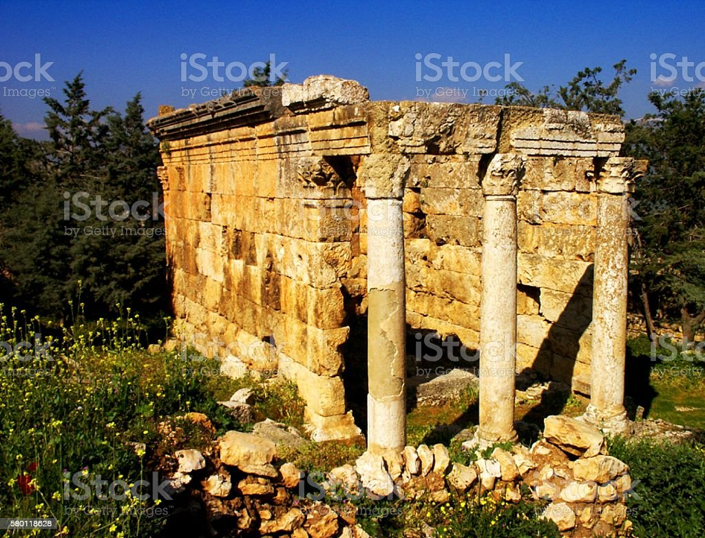 Roman Temple, Lebanon stock photo