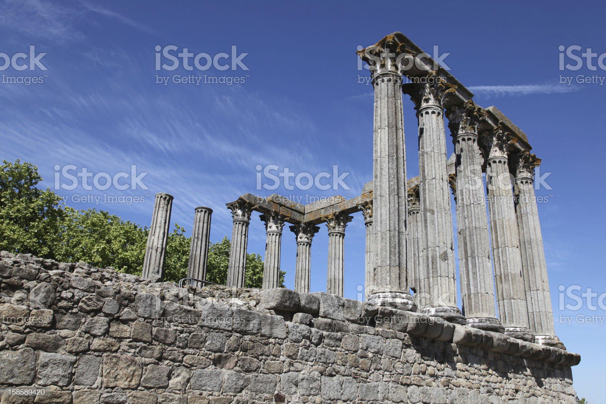 Roman Temple of Evora royalty-free stock photo