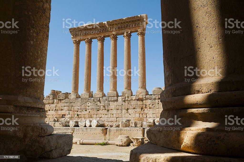 Roman Temple of Jupiter in Baalbek, Lebanon stock photo