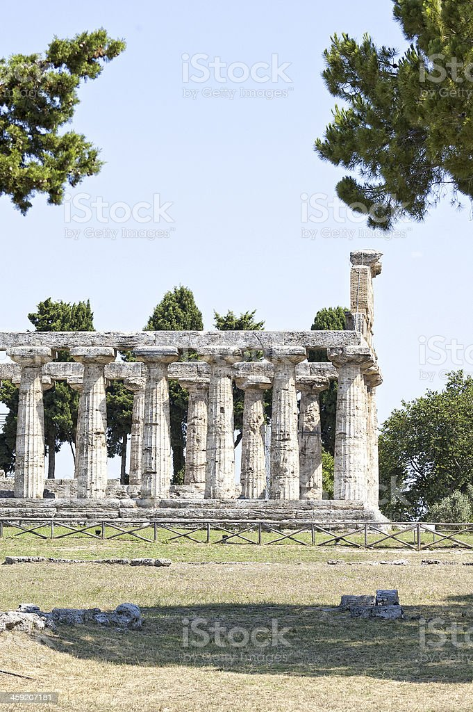 Roman temple - Paestum royalty-free stock photo