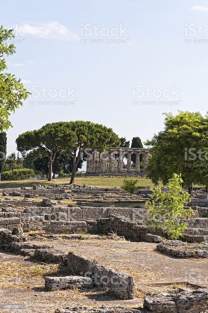 Roman temple stock photo