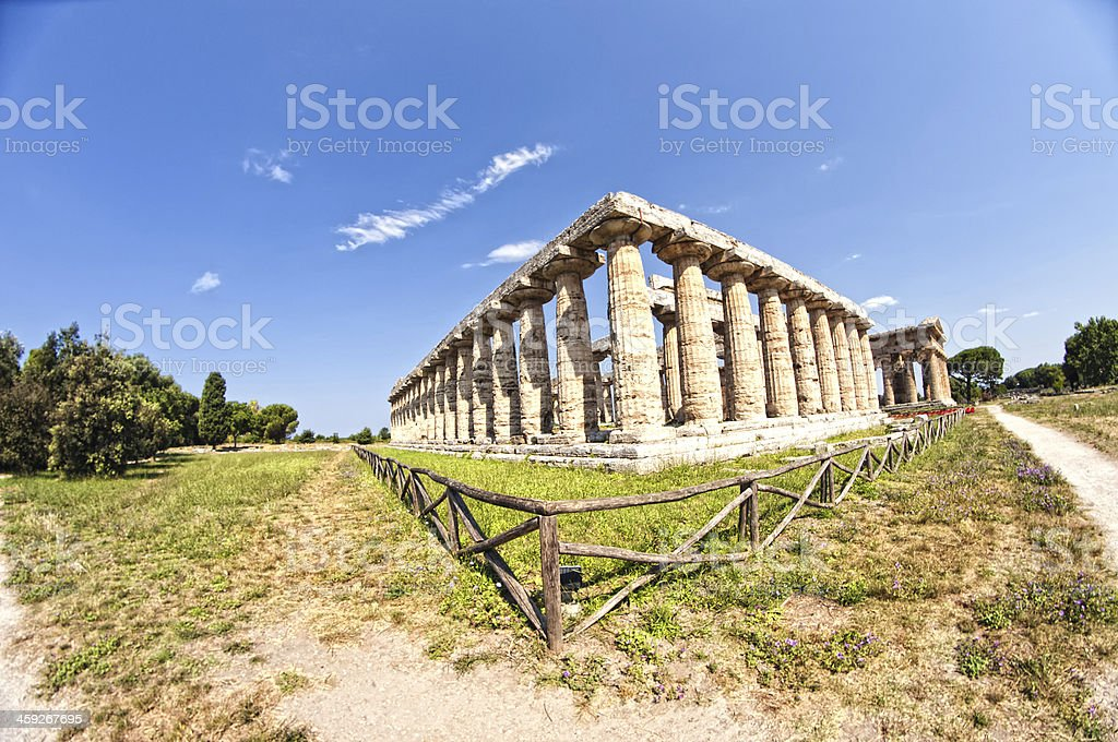 Roman temple royalty-free stock photo