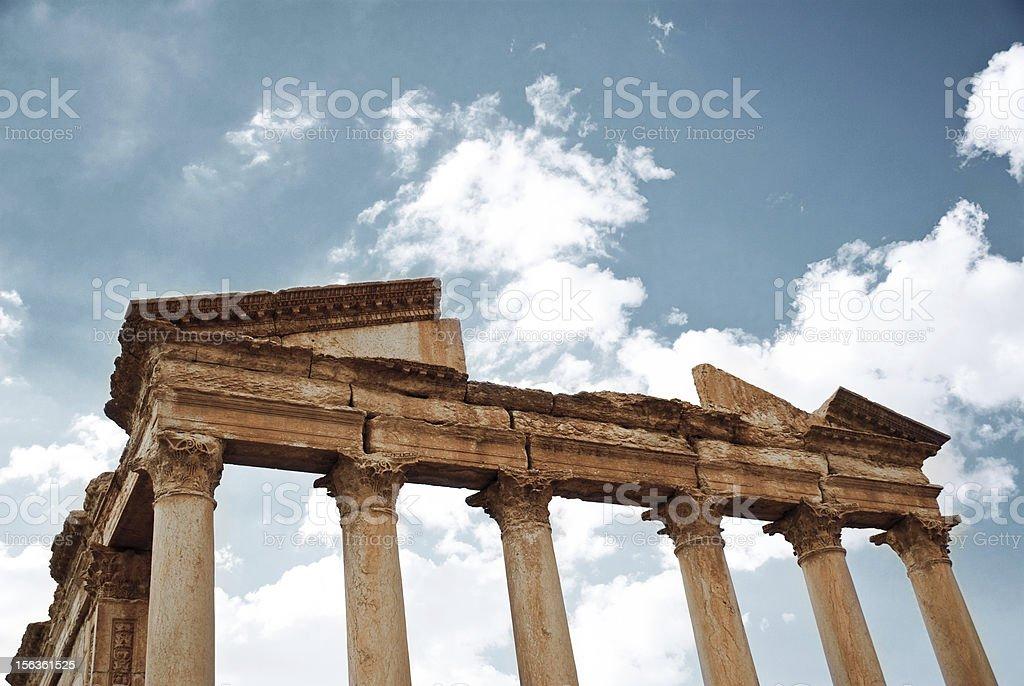 Roman temple, Tadmor royalty-free stock photo