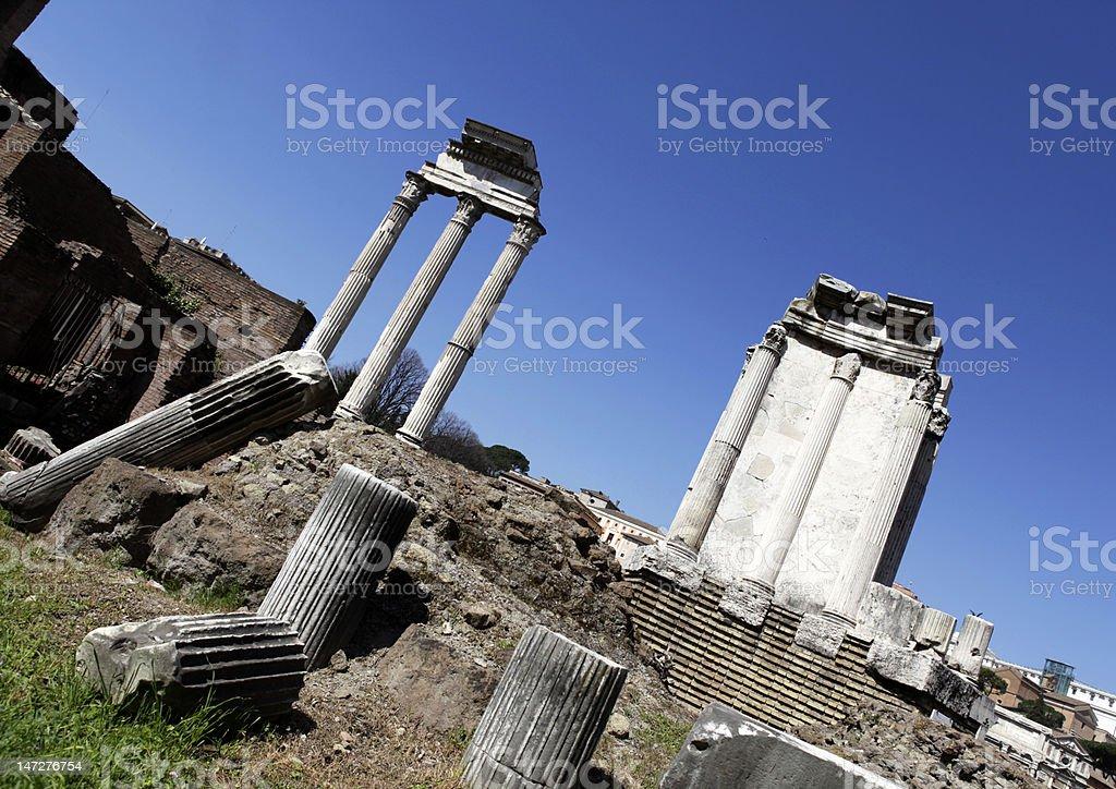 Roman Temples stock photo