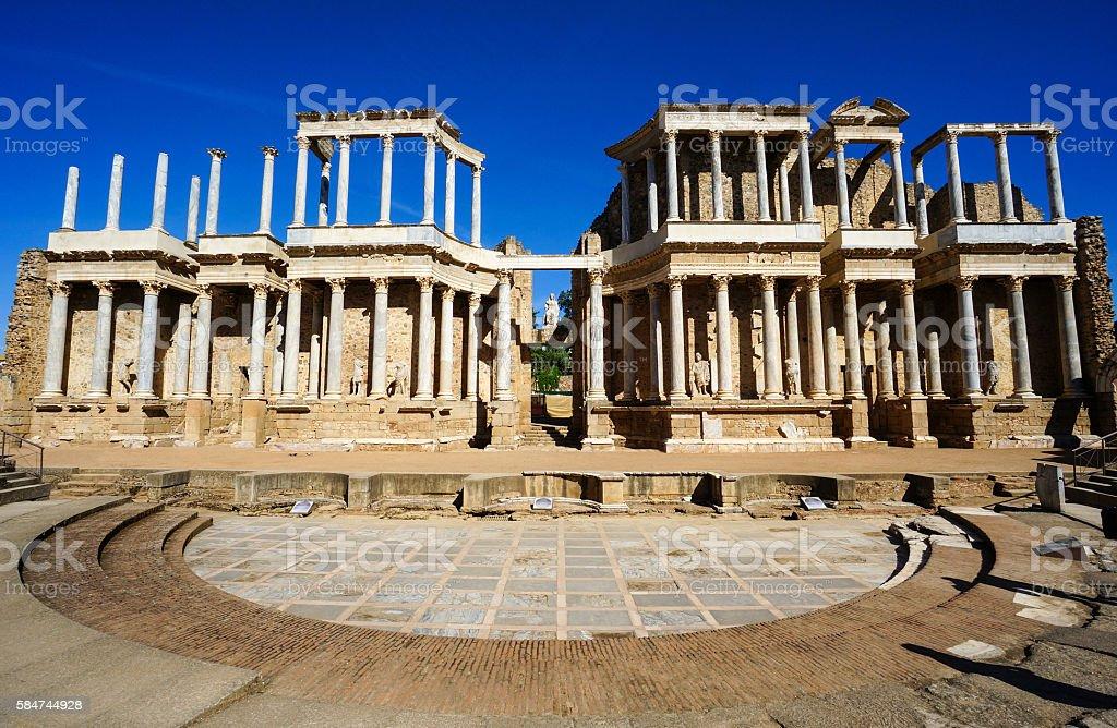 Roman Theater in Mérida, Spain stock photo