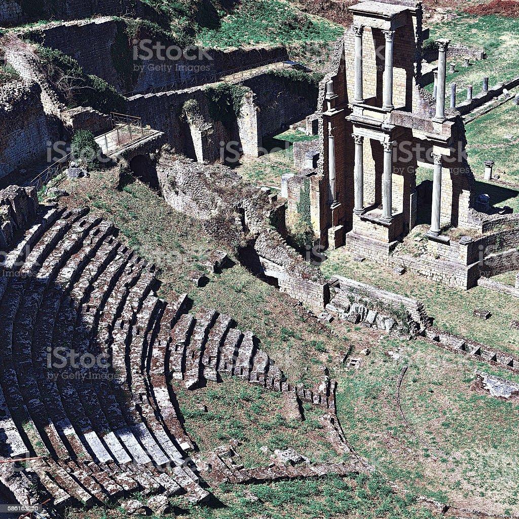 Roman Theater stock photo