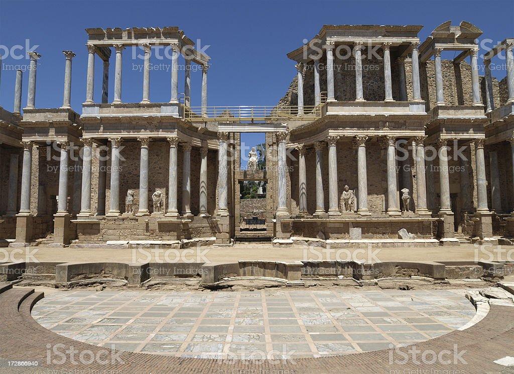Roman Theatre at Merida, Spain stock photo