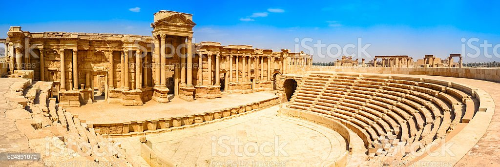 Roman Theatre at Palmyra Syria stock photo