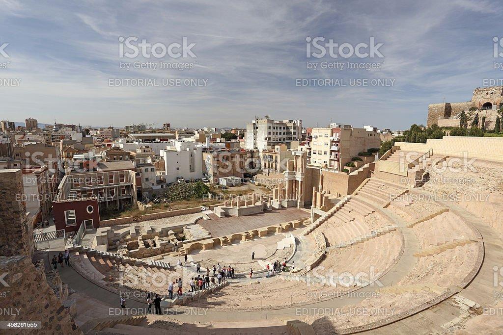 Roman theatre, Cartagena, Spain royalty-free stock photo