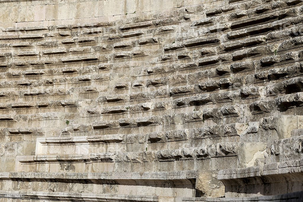 Roman Theatre in Amman, Jordan royalty-free stock photo