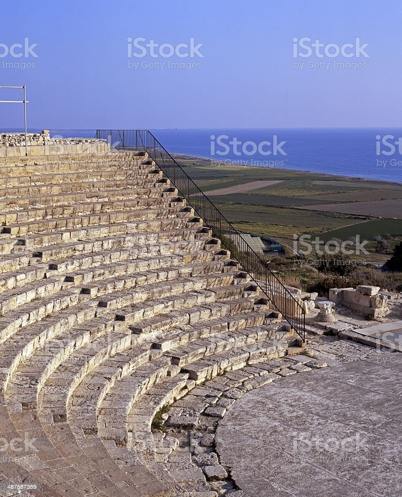 Roman theatre, Kourion, Cyprus. stock photo