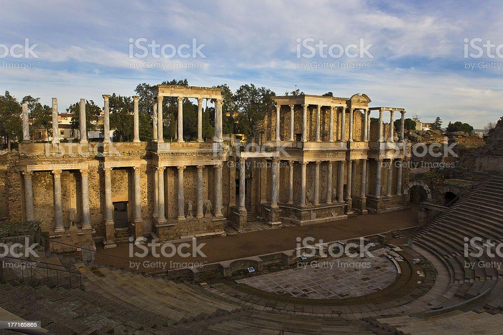 Roman Theatre of Mérida stock photo