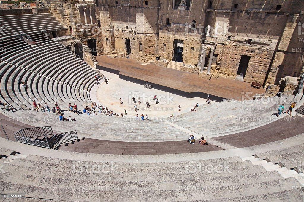 Roman Theatre of Orange stock photo