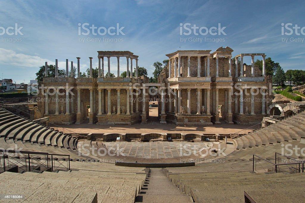 Roman theatre stock photo