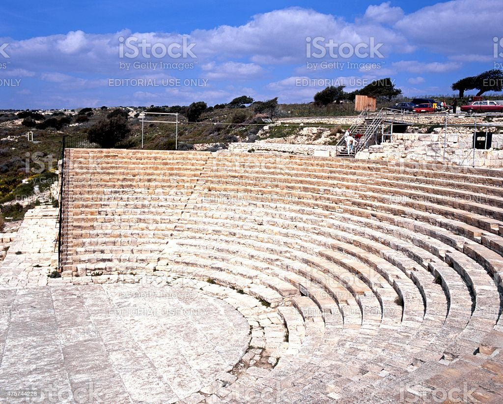 Roman theatre ruin, Kourion. stock photo
