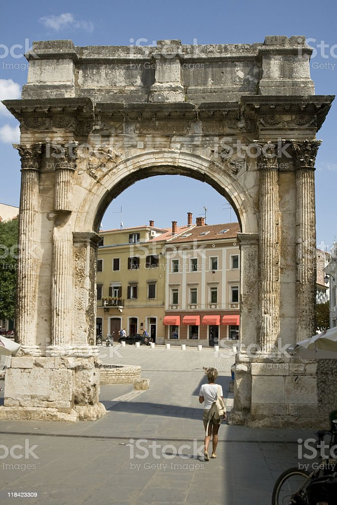 Roman triumphal arch royalty-free stock photo