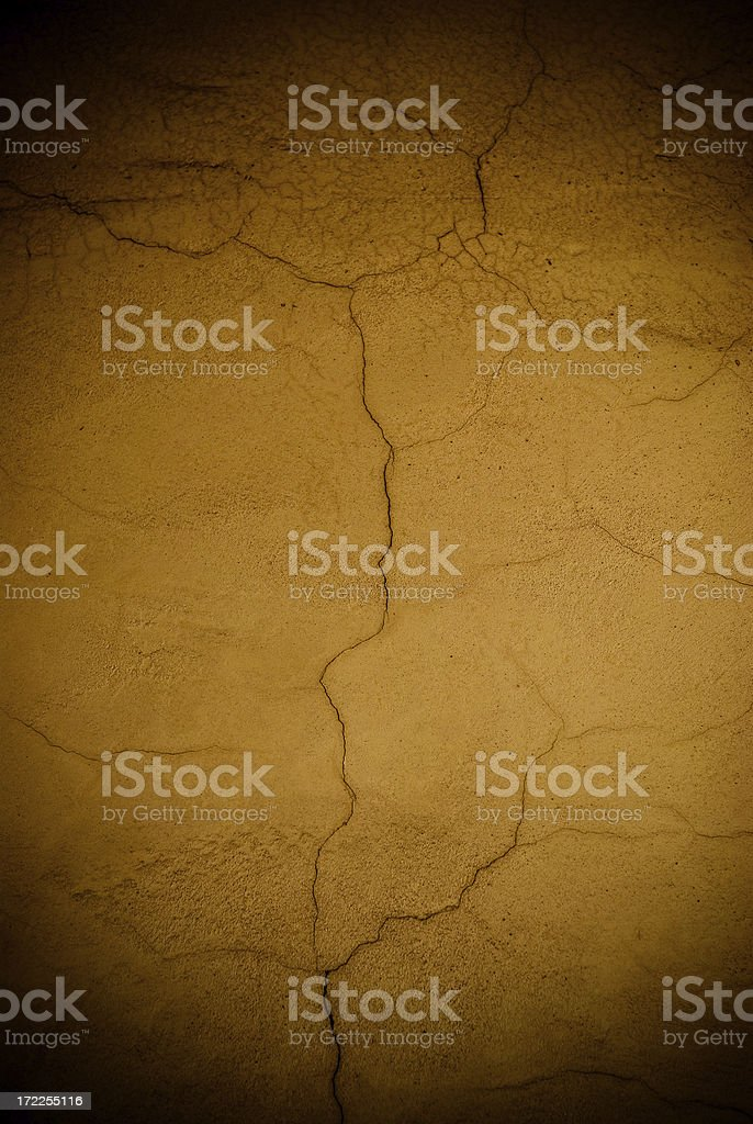 roman wall cracked stock photo