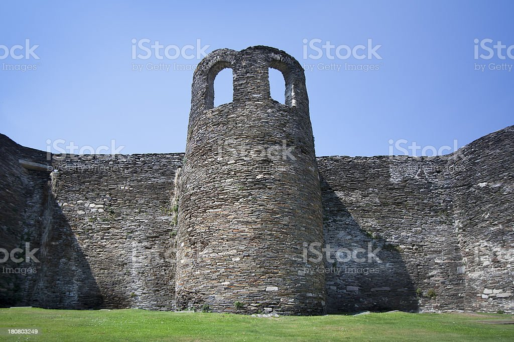 Roman wall in Lugo, Spain royalty-free stock photo