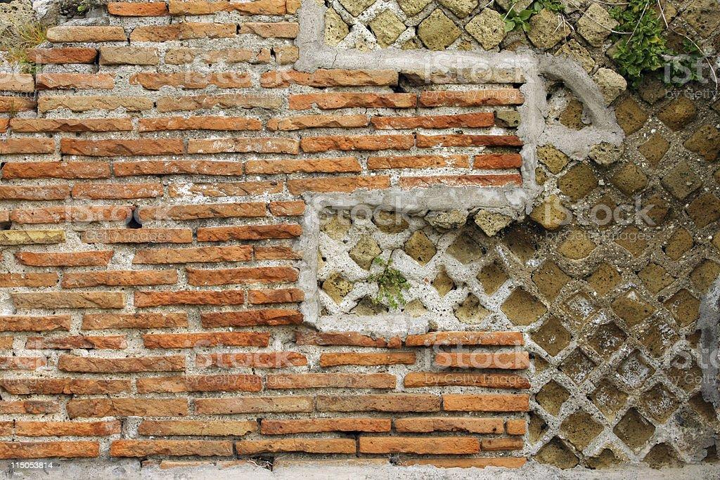 Roman wall stock photo