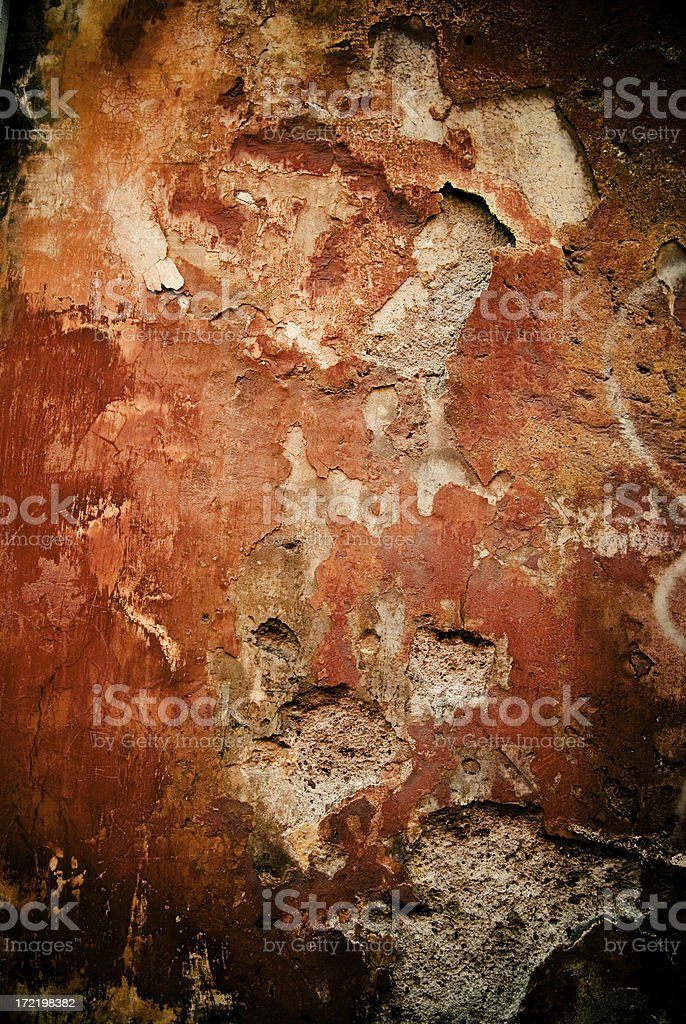 roman wall red stock photo