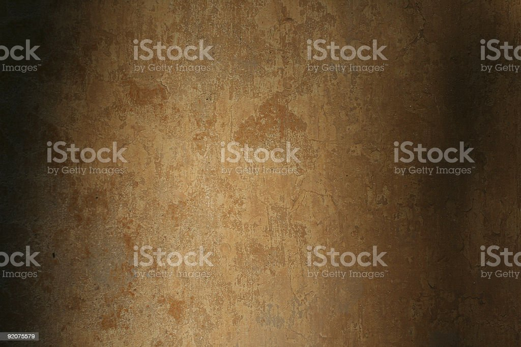 Roman wall texture with shadows, Rome Italy royalty-free stock photo