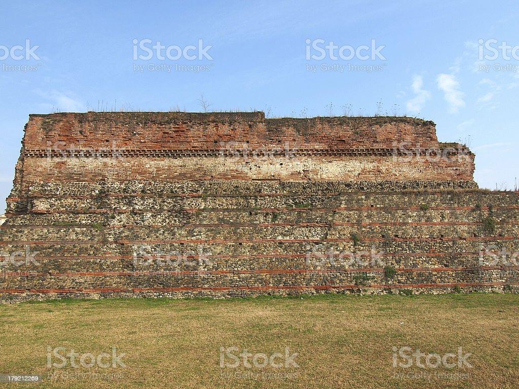 Roman Wall, Turin royalty-free stock photo