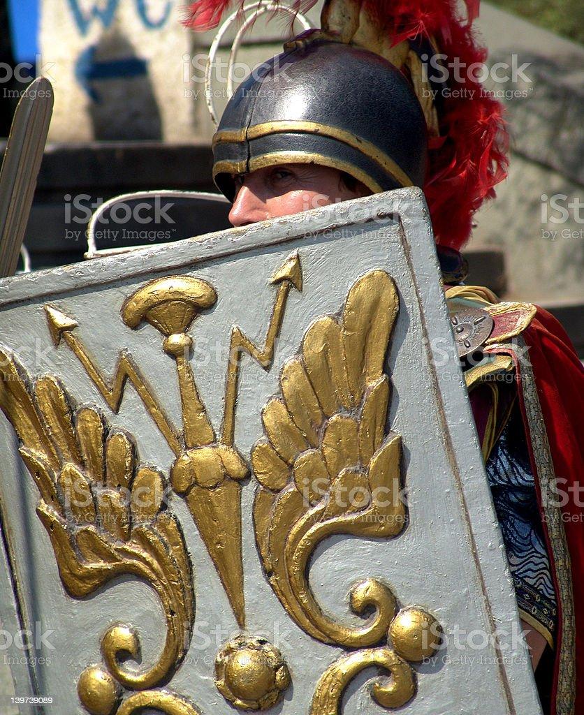 Roman warrior royalty-free stock photo