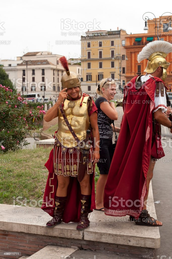 Roman Warriors royalty-free stock photo