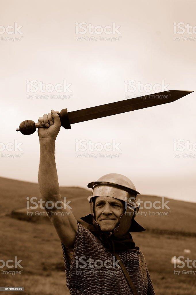Roman with Sword. stock photo