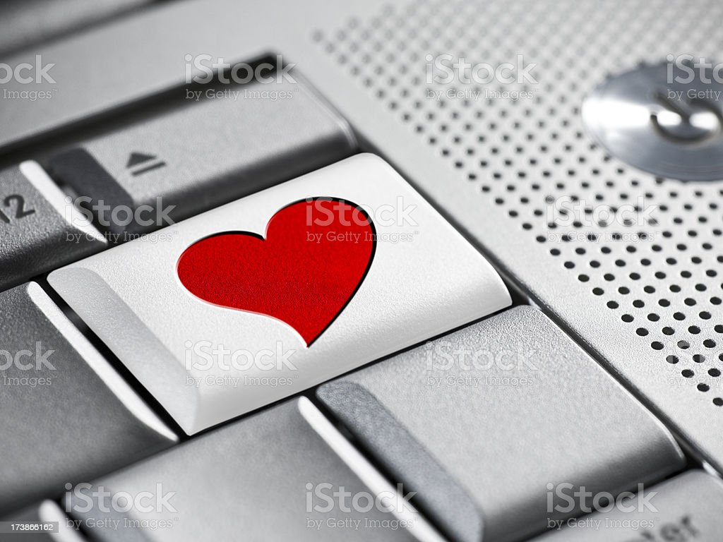 Romance and dating on the internet royalty-free stock photo