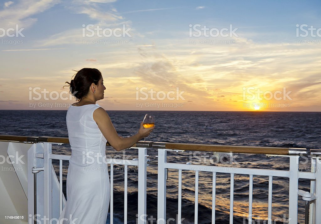 Romance at sunset royalty-free stock photo