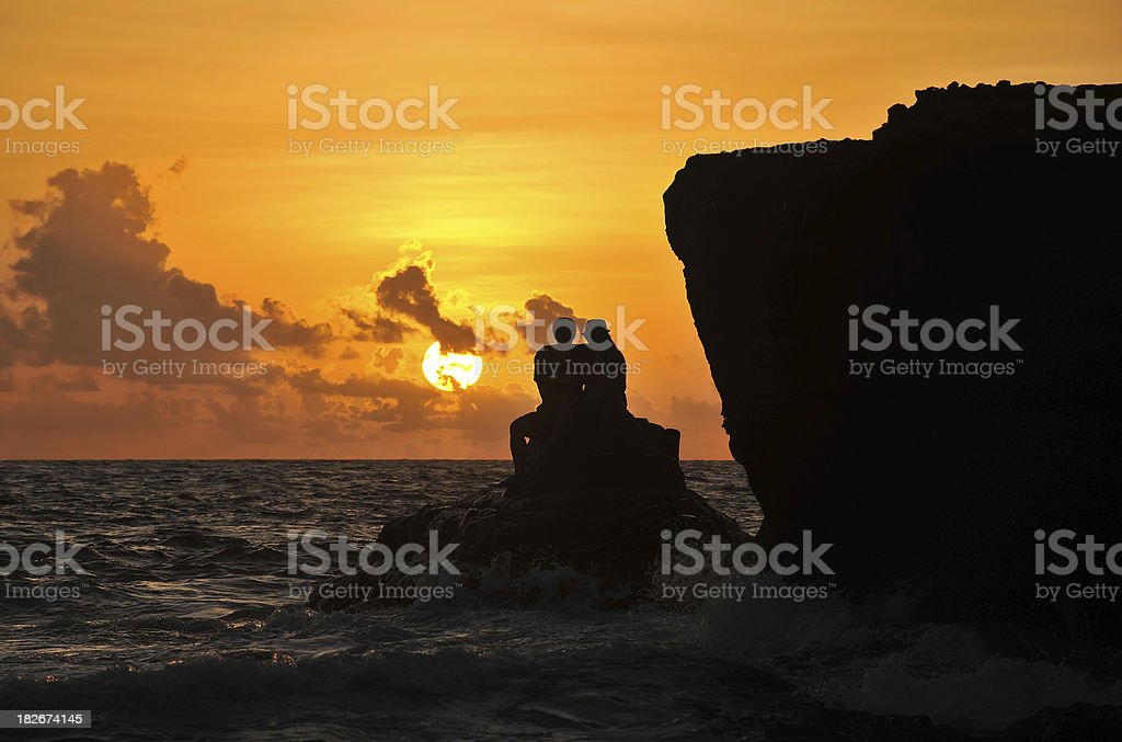 Romance at Sunset royalty-free stock photo