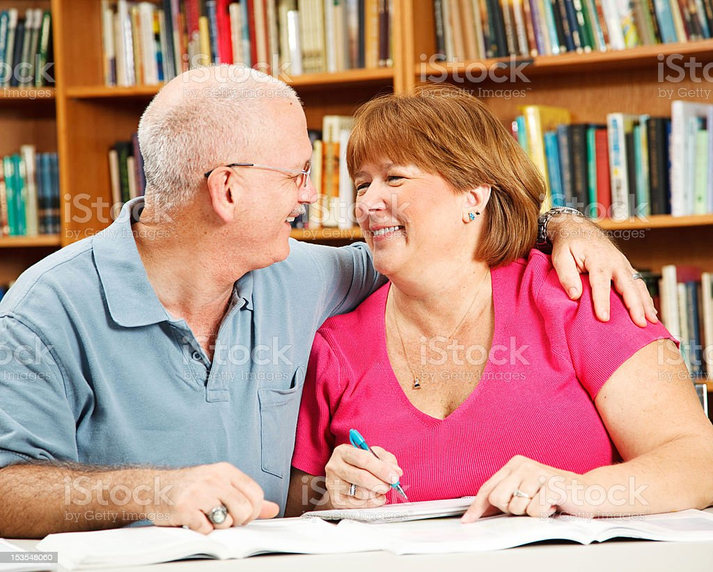 Romance at the Library royalty-free stock photo