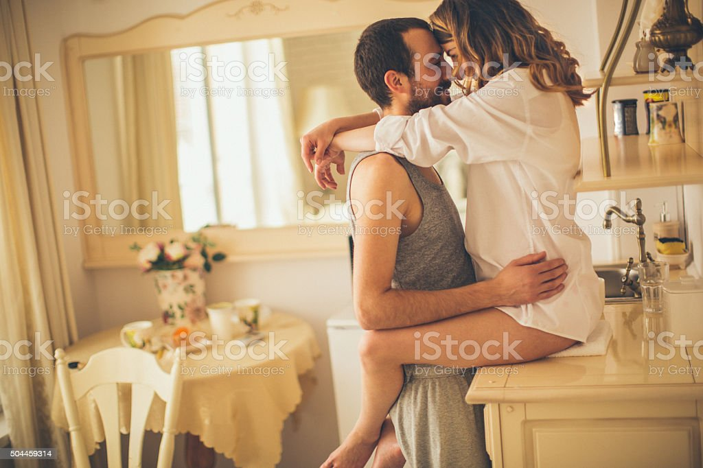 Romance for breakfast stock photo