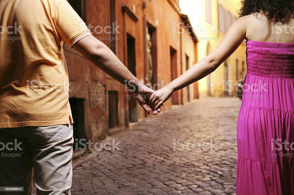 Romance in italy royalty-free stock photo