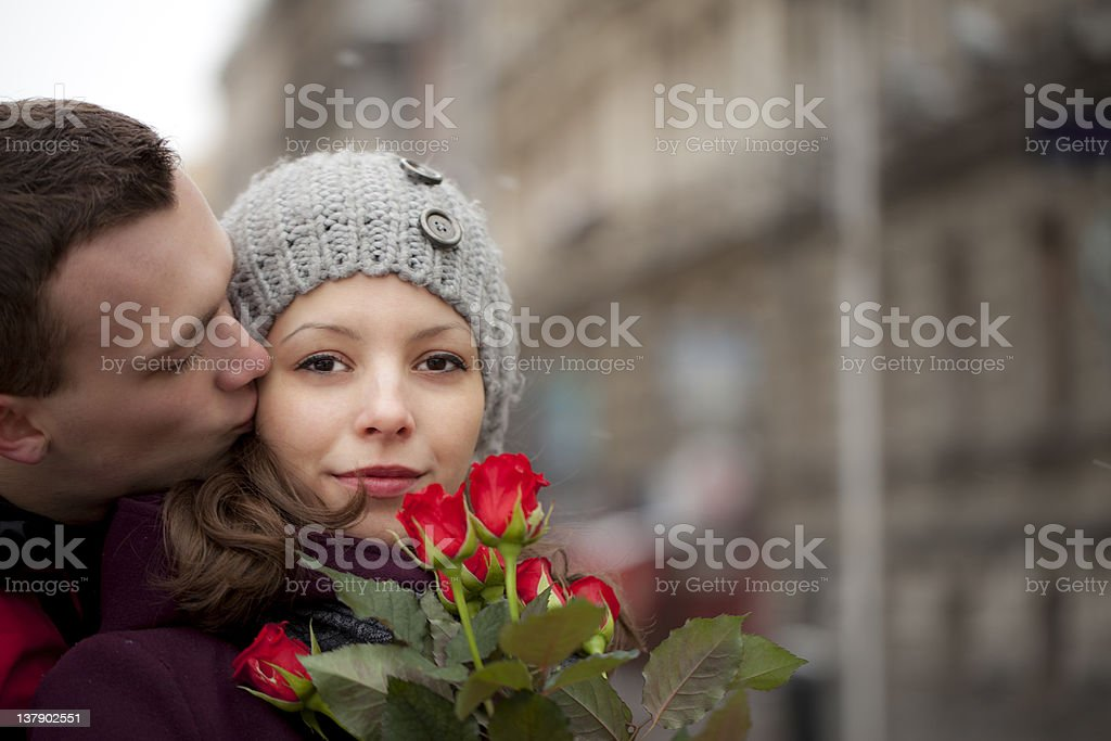 Romance in the city royalty-free stock photo