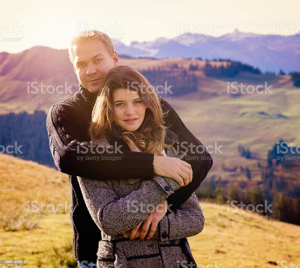 Romance in the Swiss Alps royalty-free stock photo