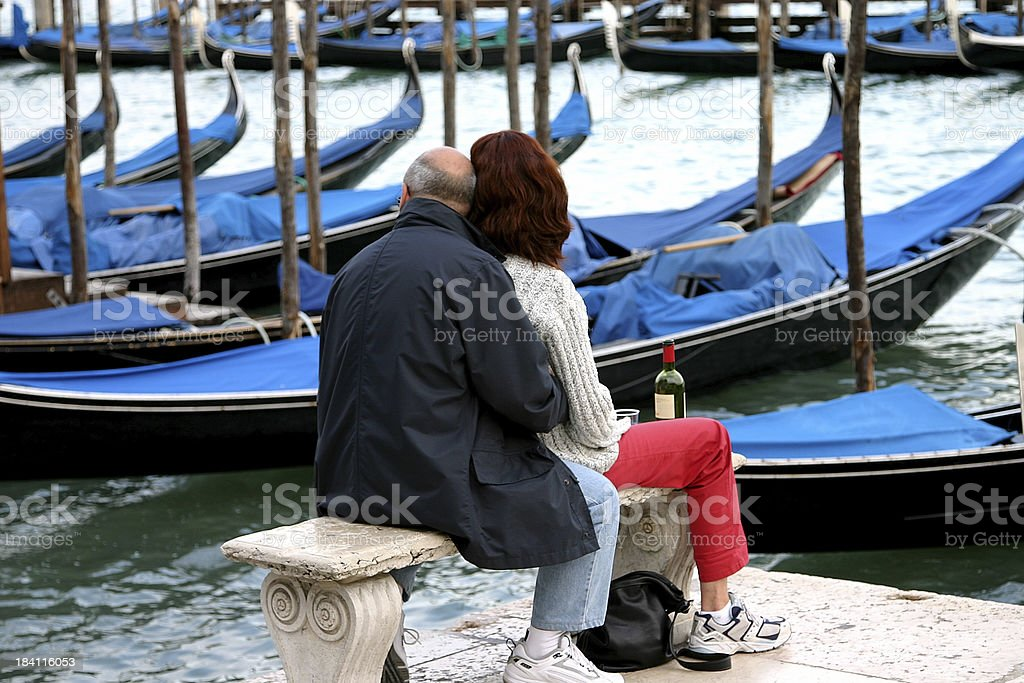 Romance in venice, italy royalty-free stock photo