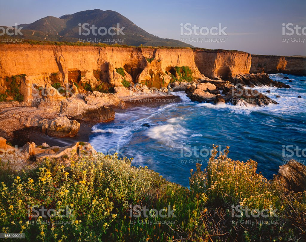 Romance of the California Coastline (P) stock photo