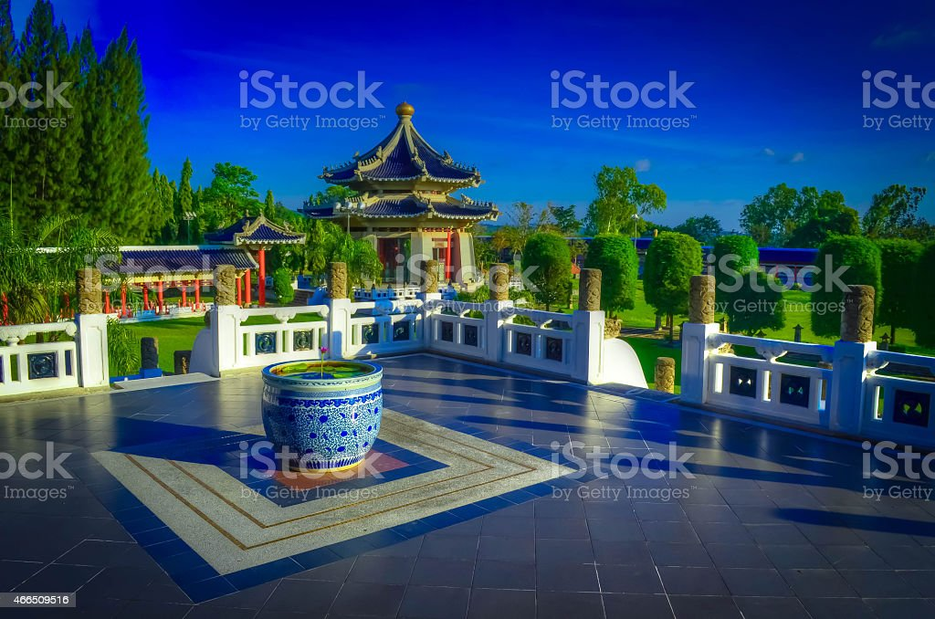 Romance of the Three Kingdoms Temple stock photo