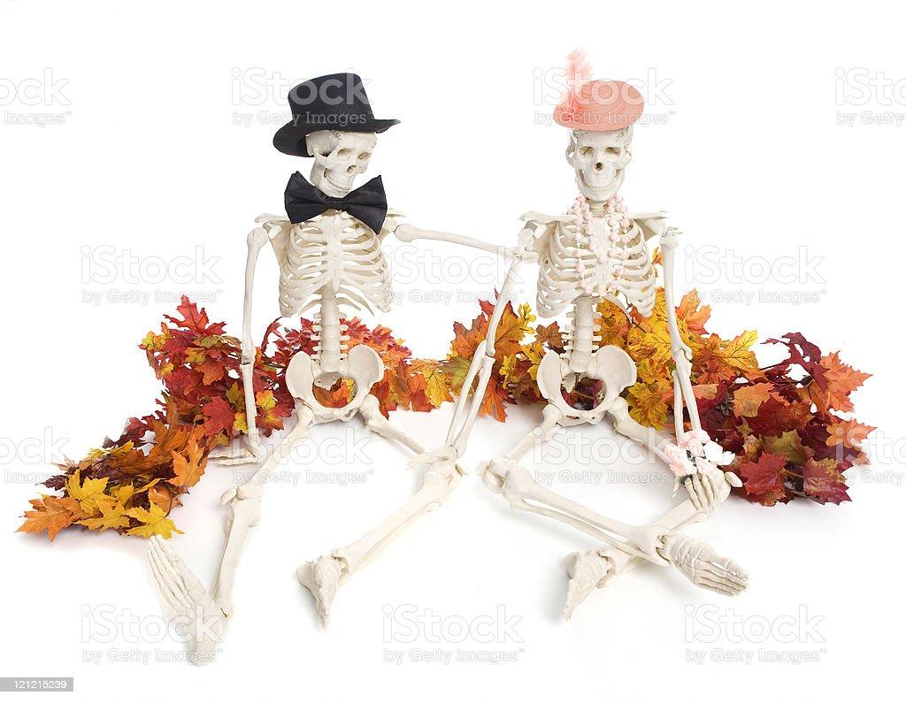 Romance on Halloween royalty-free stock photo